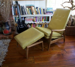milo baughman reclining lounge chair with ottoman
