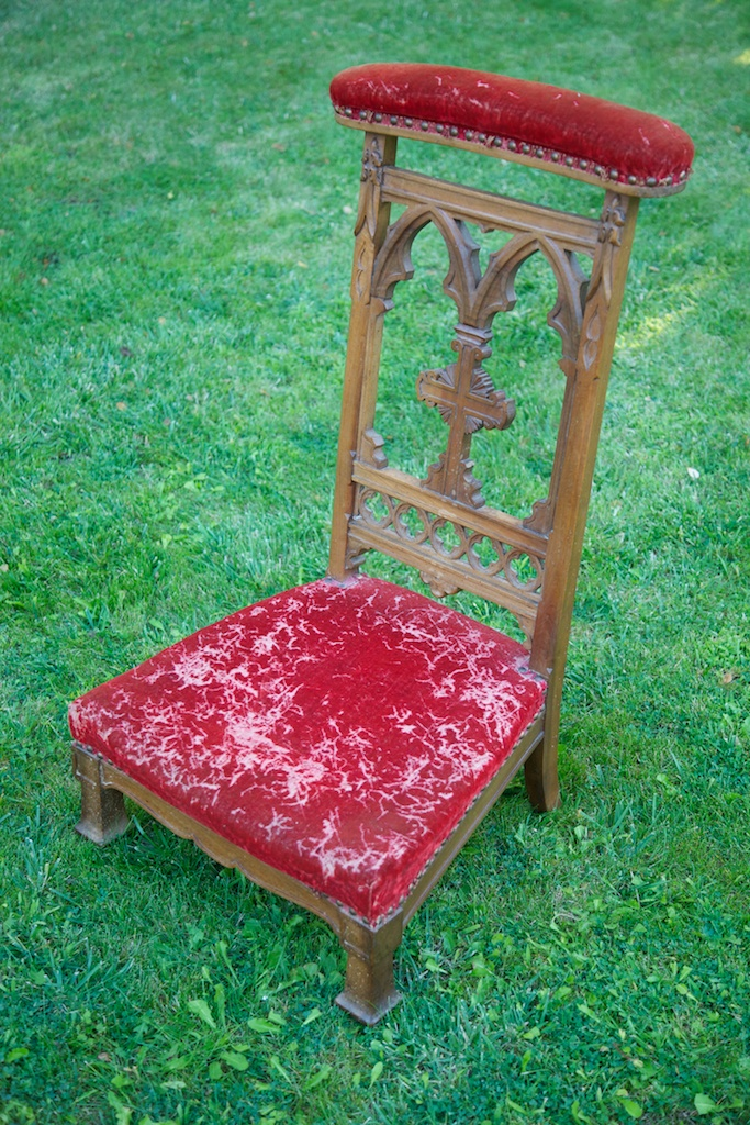 antique french prayer chair - Antique French Prayer Chair