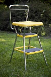 retro kitchen step stool chair | eclectibull