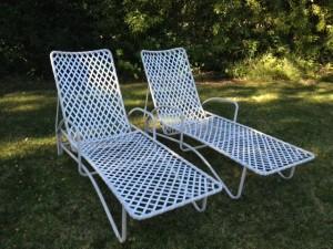 Vintage brown jordan tamiami chaise lounge chairs for Brown jordan tamiami chaise