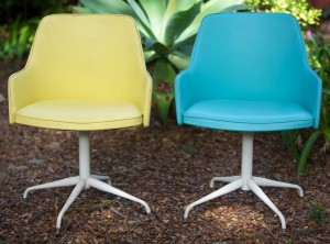 vinyl 60's swivel chairs