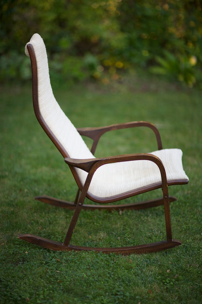 Miraculous Swedish Mid Century Modern Lamino Rocking Chair Eclectibull Creativecarmelina Interior Chair Design Creativecarmelinacom