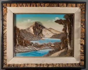 vintage bark painting