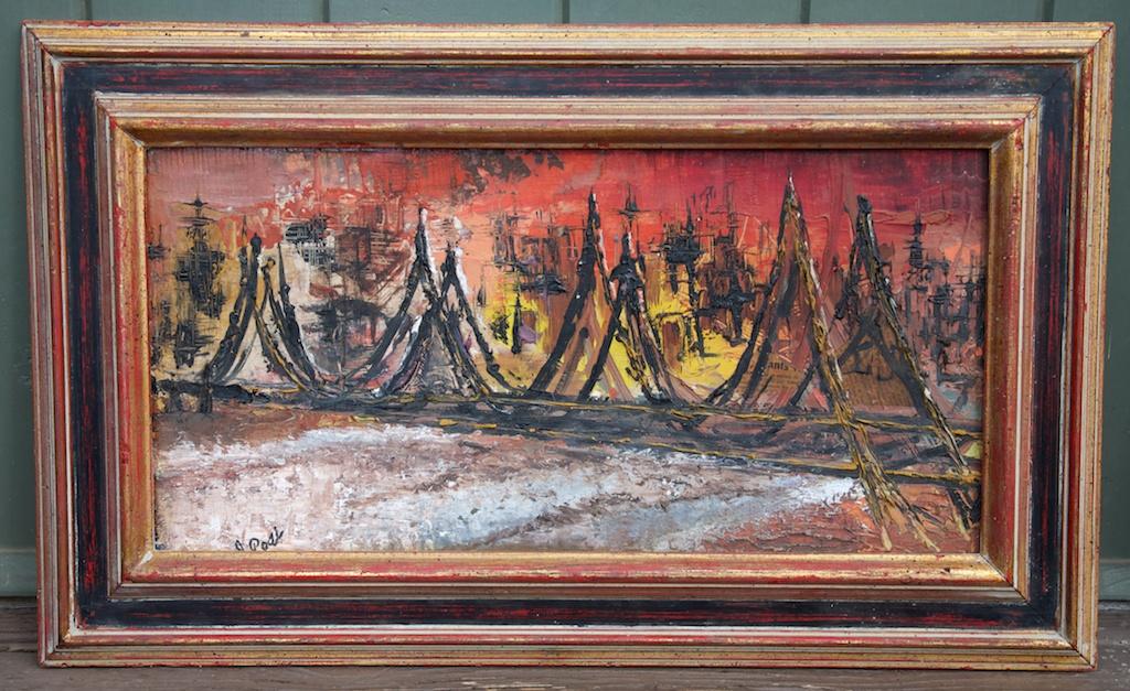 Abstract Mid Century Modern Painting Eclectibull