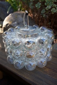 austrian bubble glass pendant lamp