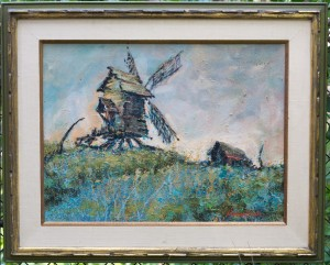 windmill painting by ralph hasenbein