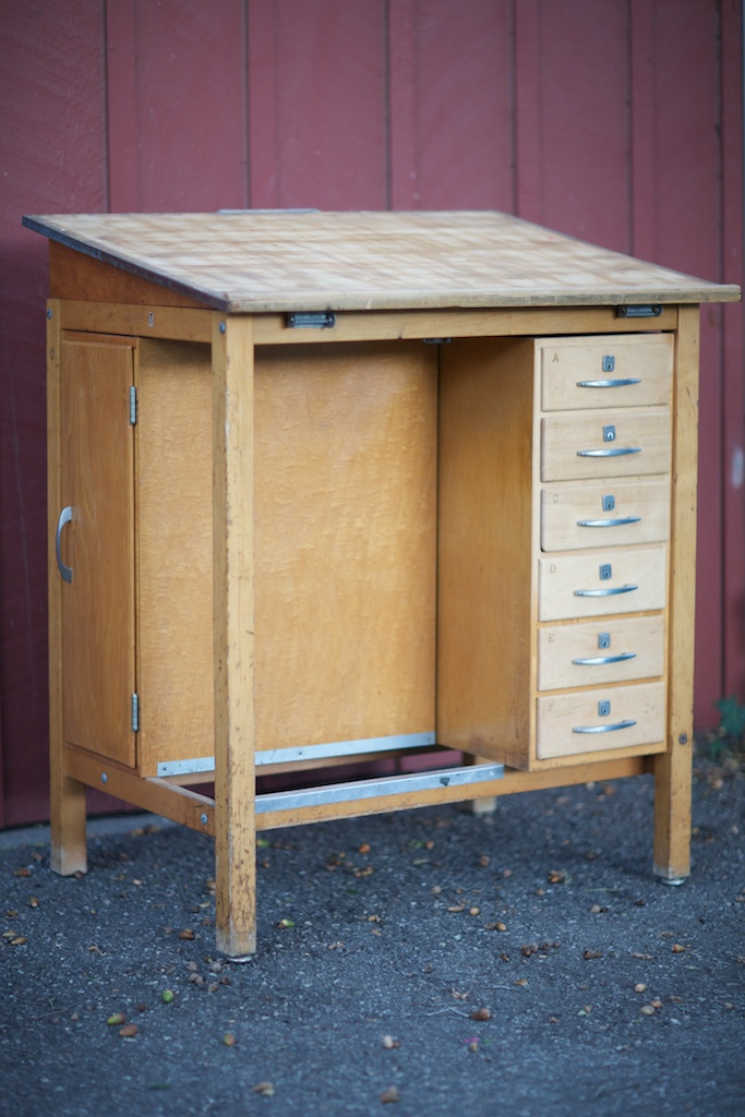 Mid Century 1950 S Drafting Table Desk Eclectibull