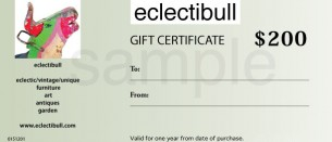 printable gift certificates are available in any amount.