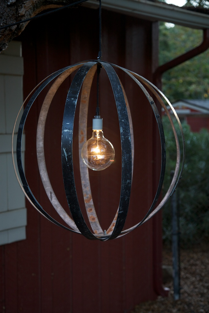 Industrial Orb Wine Barrel Ring Chandelier Eclectibull