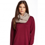 14th & Union infinity cashmere tan scarf