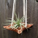 Faire Un Noeud Macramé Plant Hanger with Leather Tray