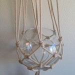 Faire Un Noeud Driftwood Macramé Plant Hanger with Glass Bowl